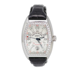 Franck Muller Limited Edition Conquistador with Diamond Set Bezel Stainless Steel Watch