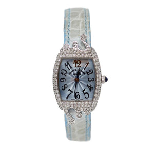 Franck Muller Baby Blue 18kt White Gold Ladies Diamond Watch