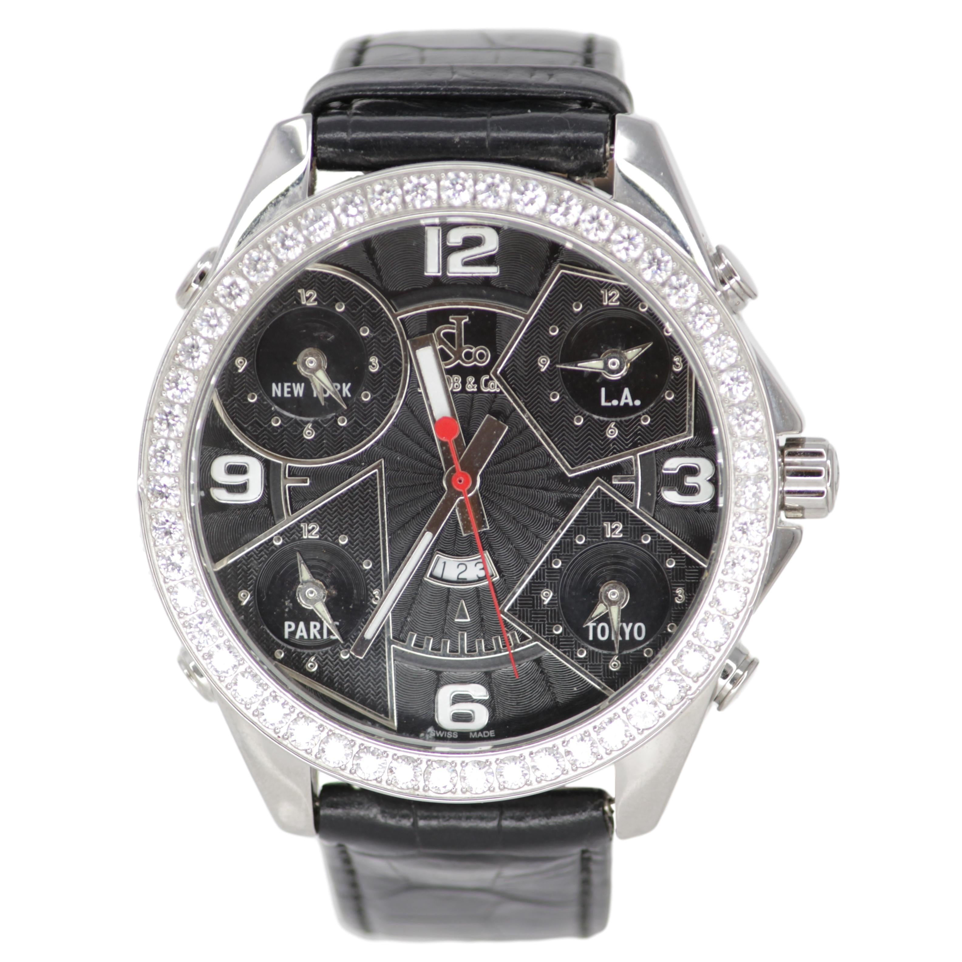 711a2e1aa7c7cd Jacob   Co. Five Times Zone Men s Watch – The Dina Collection