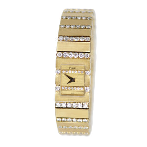 Piaget 18k Yellow Gold with Diamonds Ladies Watch