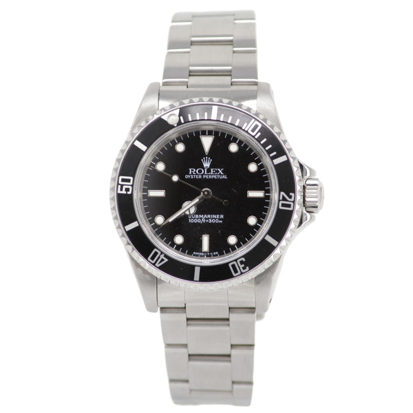 Rolex Oyster Perpetual Submariner 1990-1991 Men's Watch No Date Rotating Bezel Stainless Steel