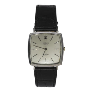Rolex Cellini 18k White Gold Mens Watch 4133