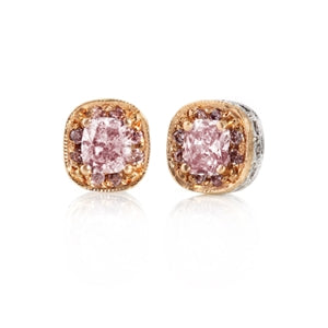 RARE FANCY PINK DIAMOND EARRINGS