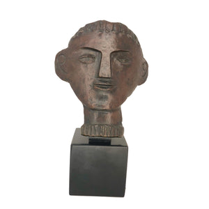 Andre Derain Male Portrait - bronze sculpture of a man's face