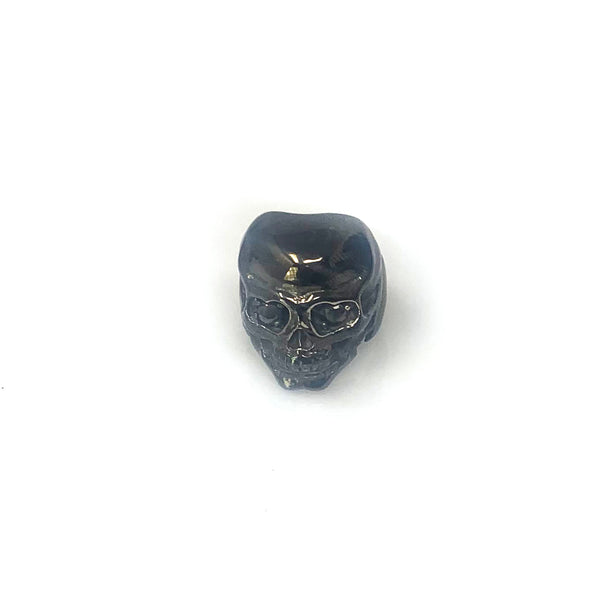 "Dark Knight Band - Skeletal ""Skulls On Fire"" Black Diamond Men's Ring"
