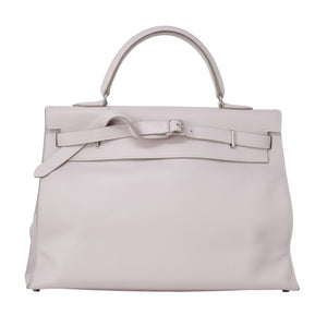 Hermes Pink Kelly Flat Trench 35 Purse Bag