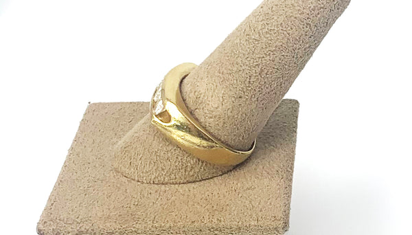 The Man Band - 14k Yellow Gold 1.5Carat Diamond Men's Ring / Band Unisex
