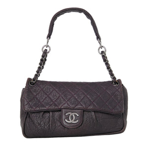 Chanel Quilted Flap Purple Handbag Everyday Purse Bag