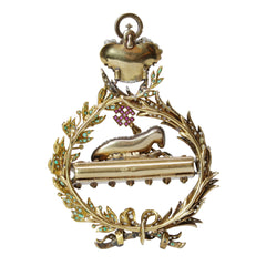 Russian Reliquary Pendant with Diamonds - Rubies, Emeralds & Enameling in 18k Yellow Gold