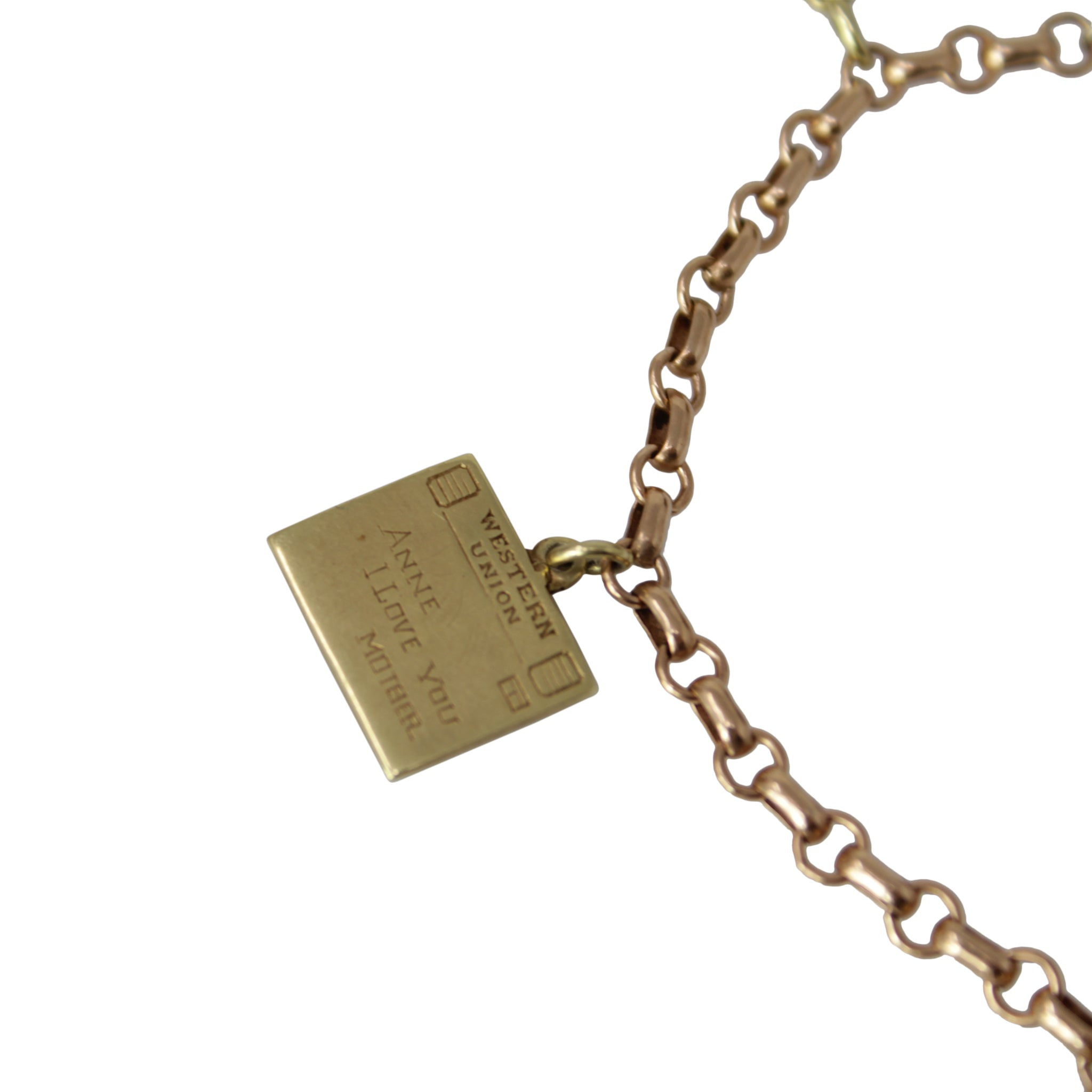 Anne's Memory Charm Bracelet - 14k Yellow Gold and Rose Gold Winter Christmas Charms