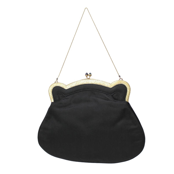 Buccellati Vintage Night - 18k Yellow Gold and Black Classic Evening Handbag