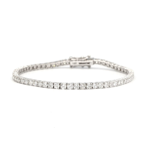 14 Karat Gold Diamond Tennis Bracelet with 6.90 Carat of Diamonds