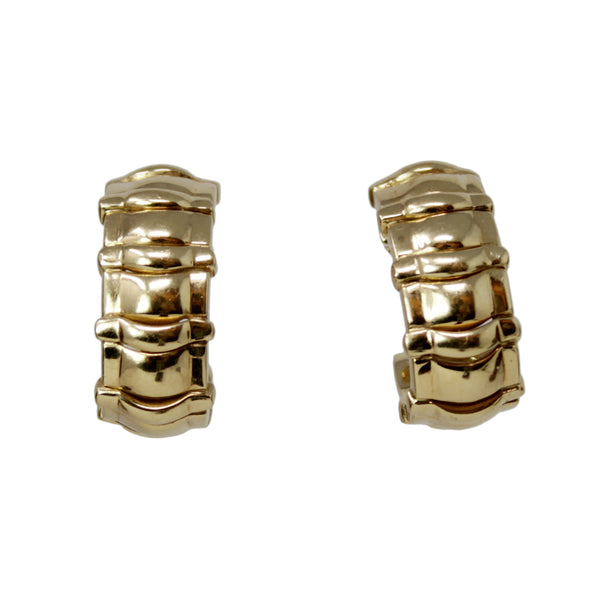Piaget Clipped - 18k Yellow Gold Clip on Earrings