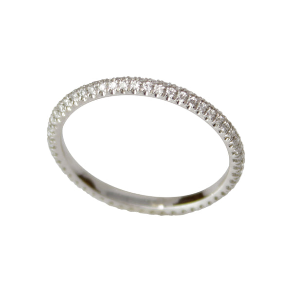 Diamond Eternity Band - 18k White Gold Diamond Ring Band