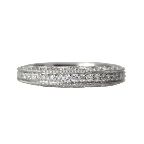 Forever Diamond Band - Platinum and Diamond Band Ring Wedding Band