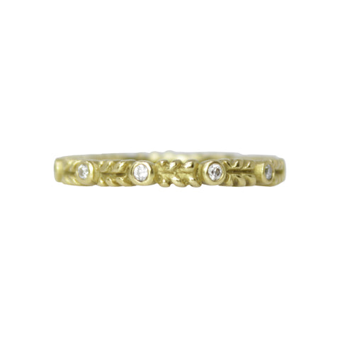 Tiffany & Co. Buckle Ring Size 8 18k Yellow Gold