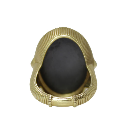 Mirror Mirror Ring - 18k Yellow Gold Boho Sapphire Ring