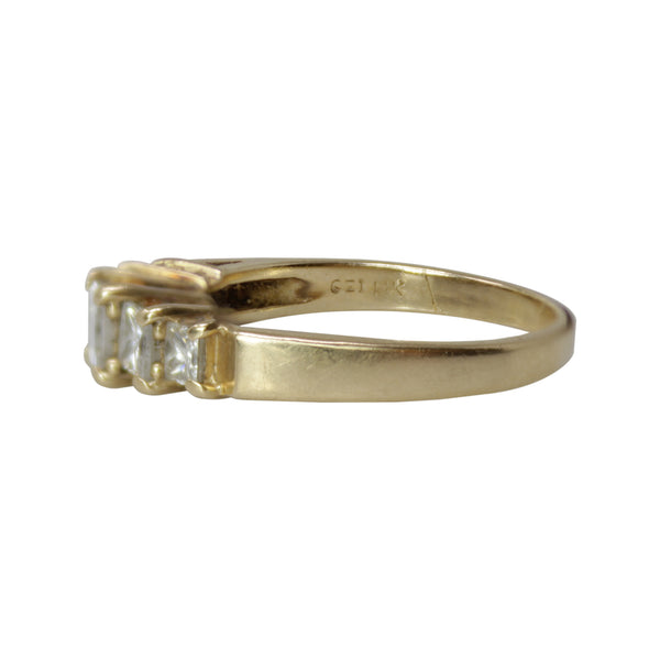Princess Diamond Ring - 14k Yellow Gold 1ct Princess Cut Diamond Engagement Ring