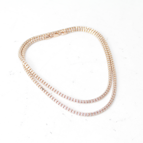 Justin Bieber style diamond cut Rose Gold chain - 30""