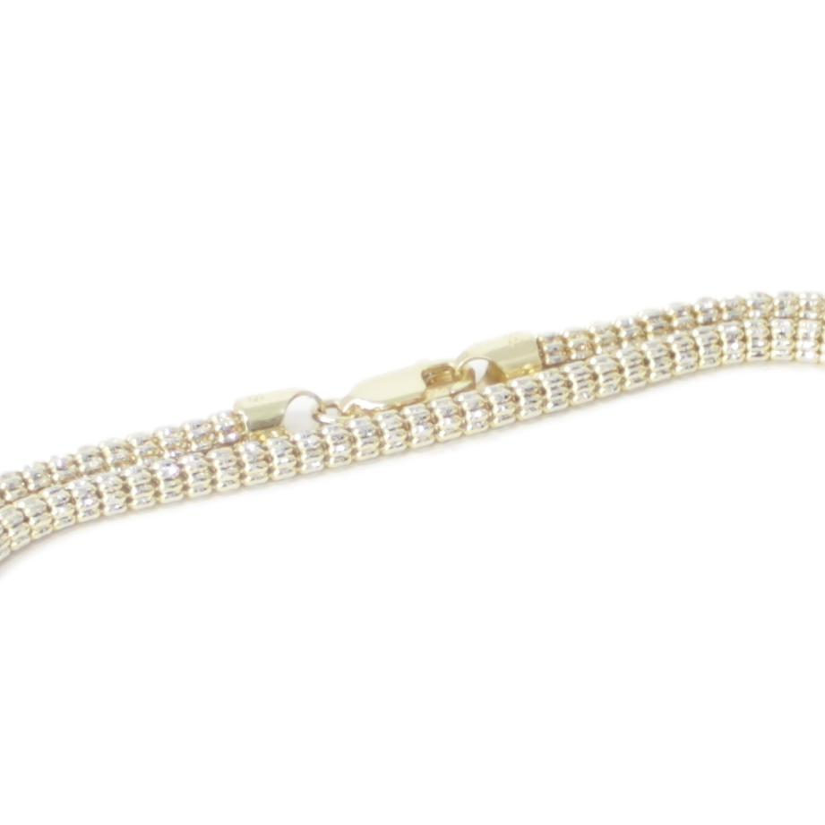 Justin Bieber style diamond cut Yellow Gold chain - 30""