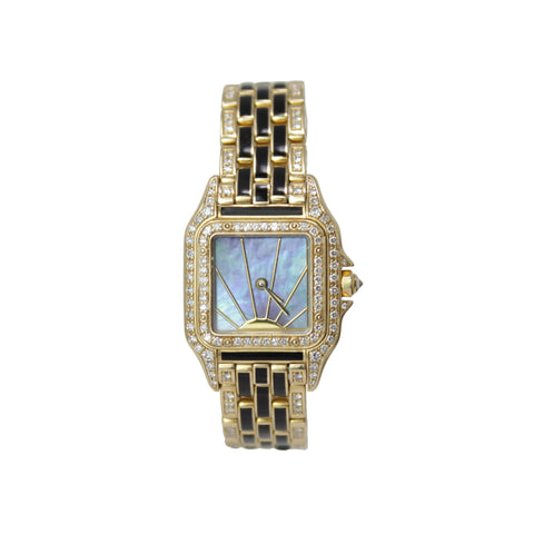 Cartier Ladies Panthere De Cartier Onyx and Diamonds 18k Yellow Gold