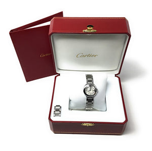 Small Ladies Ballon Bleu De Cartier Stainless Steel Box
