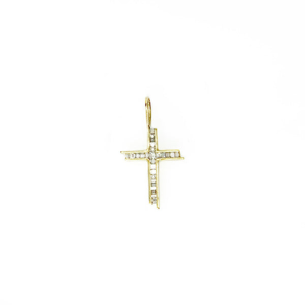 Gold and Diamond Cross Pendant