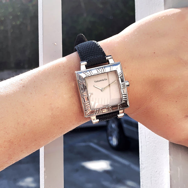 Tiffany & Co. Atlas Watch Stainless Steel Men's or Woman's Large