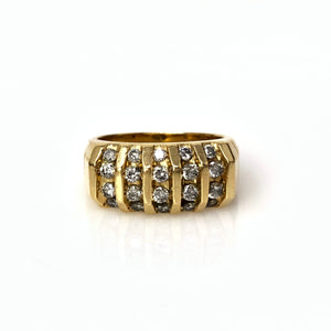 Untamed Band - 14k Yellow Gold and Round Brilliant Diamond Men's Ring