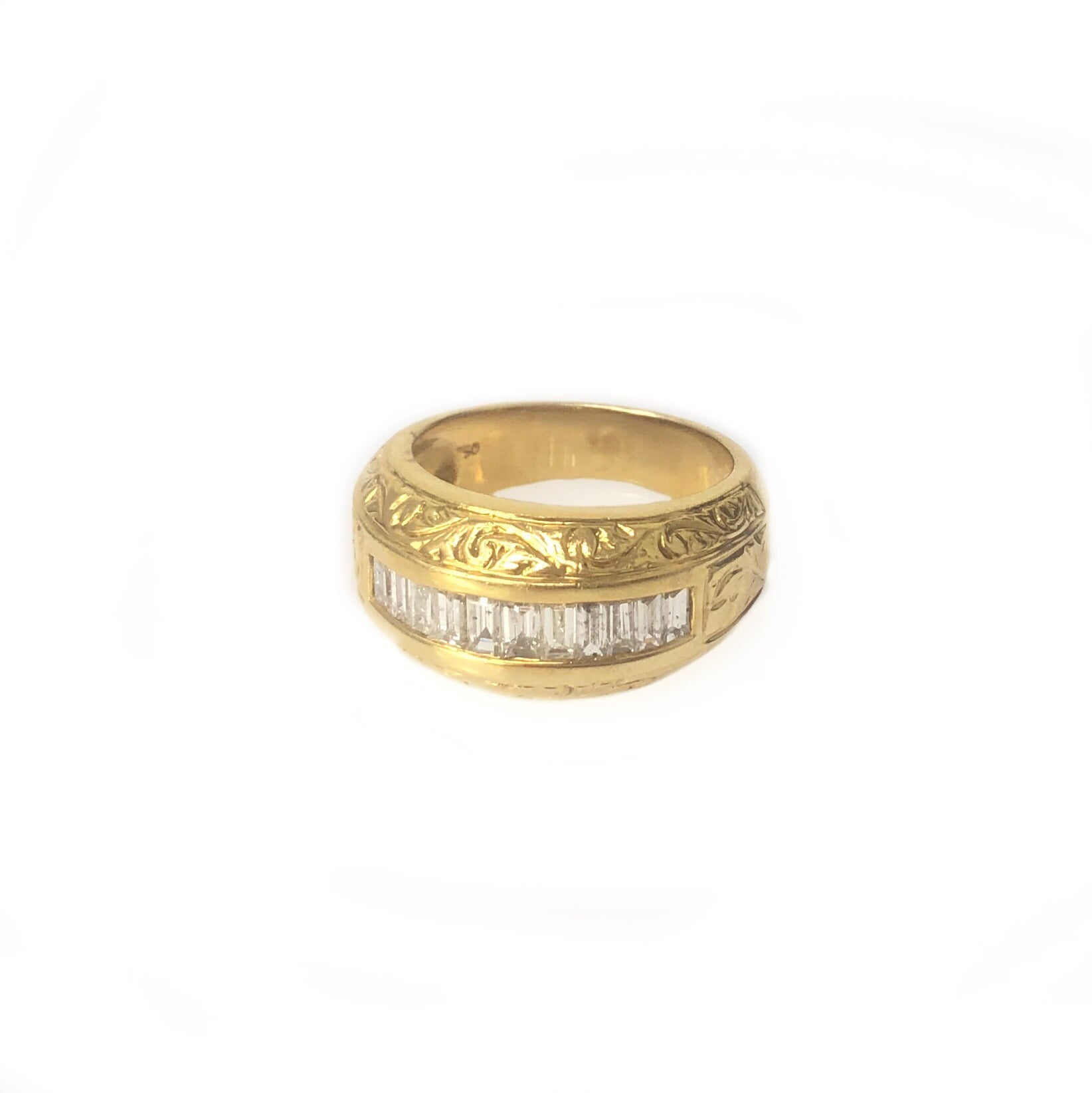 The Midas Touch - 18k Yellow Gold Diamond Men's Band Ring