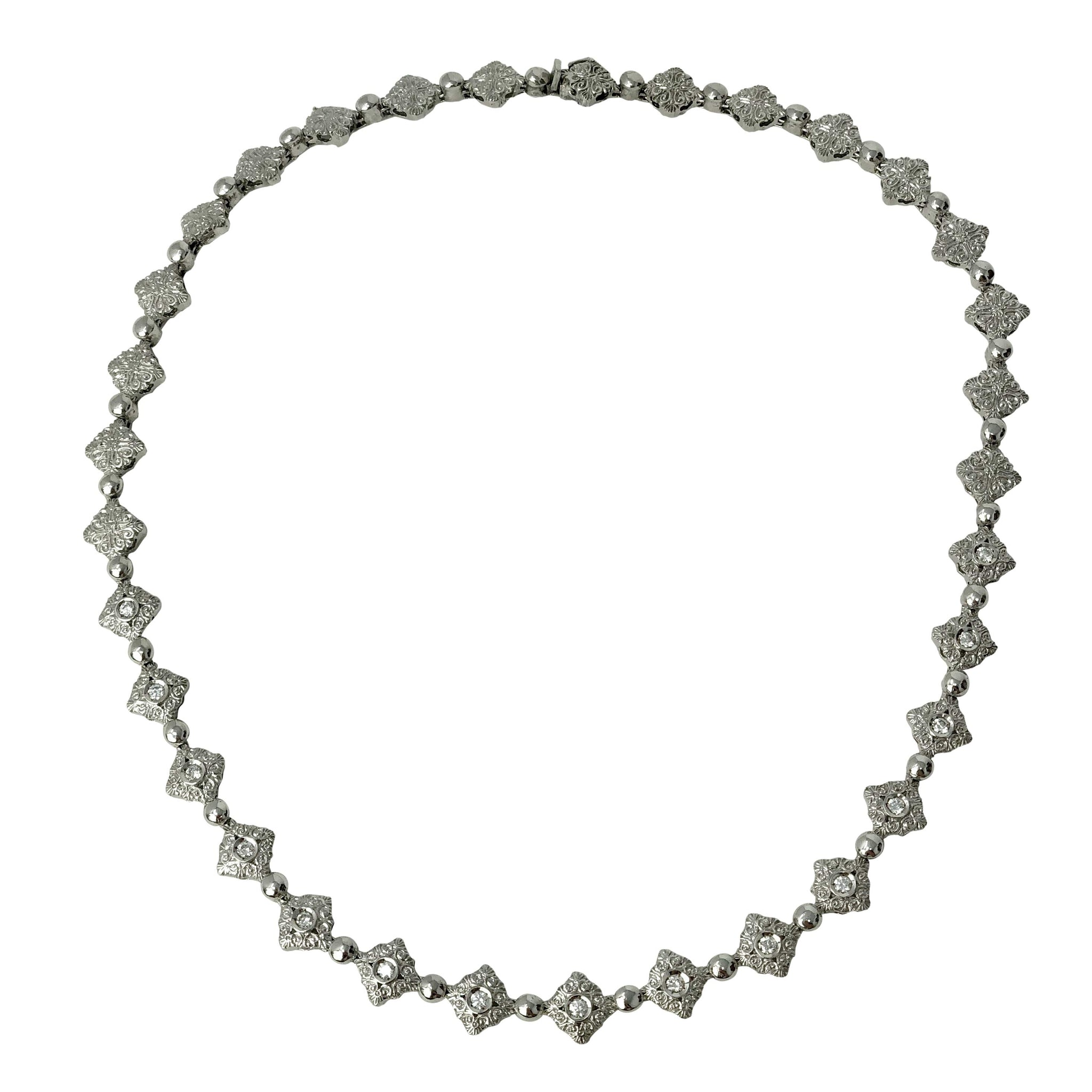 Moda Italia - Diamonds Are Wild Collar -18k White Gold Diamond Necklace