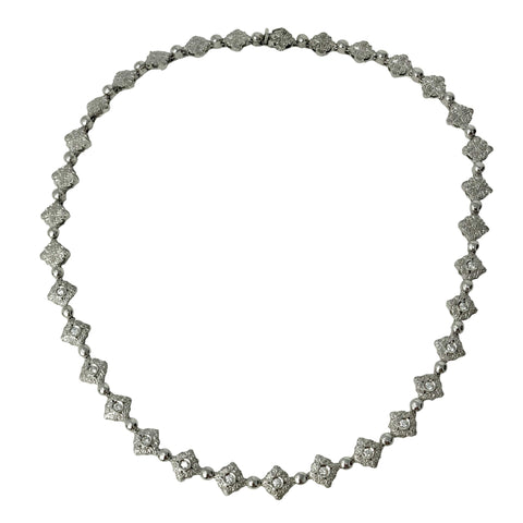 Moda Italia 18k White Gold Diamond Necklace