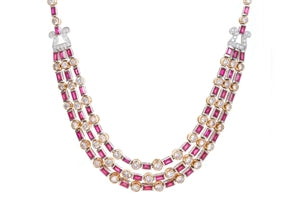DIAMOND & RUBY DRAPE NECKLACE