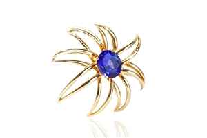 TIFFANY & CO 18K TANZANITE BROOCH