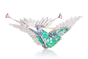 BIRD OF PASSION BROOCH
