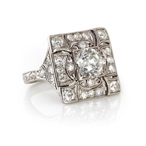 ART DECO PLATINUM RING