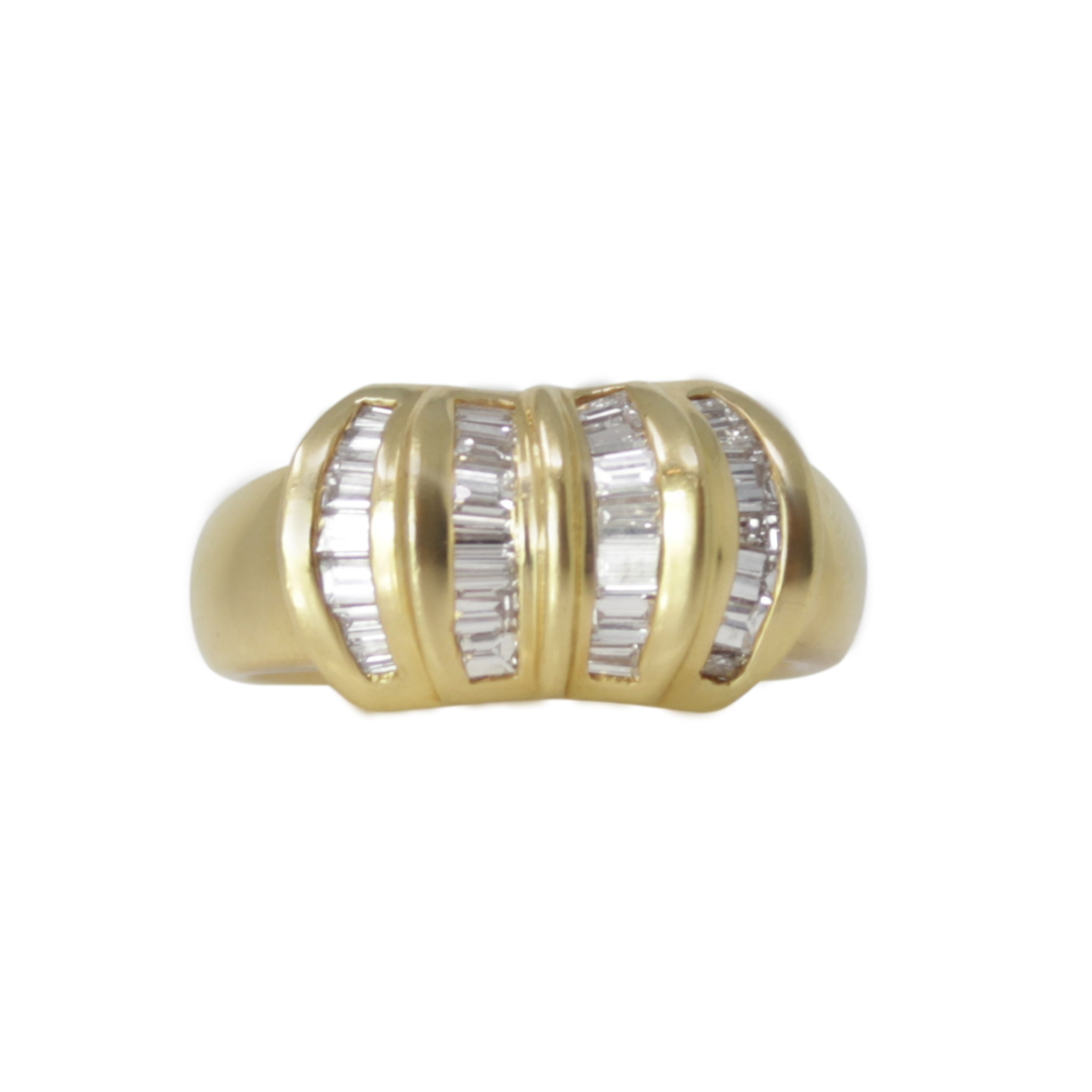 Ignite Diamond Ring - 18K Yellow Gold Diamond Baguette Band Ring