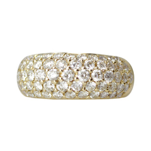 Practical Power Diamond Band - 14K Yellow Gold Diamond Dome Ring