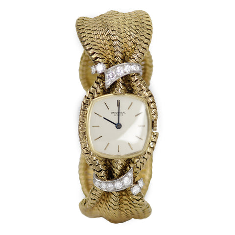 Cartier Universal Geneve 18k Yellow Gold with Diamonds Watch