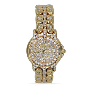 Bertolucci Pulchra Ladies 18K Yellow Gold Diamond Watch Round Face