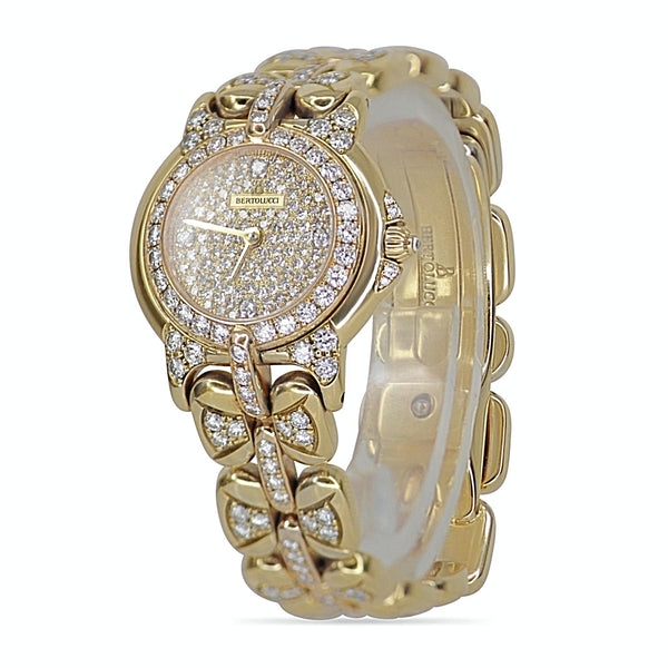 Bertolucci Pulchra Ladies Watch 18K Yellow Gold with Diamonds