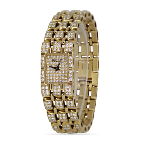 Piaget 18k Yellow Gold Diamond Ladies Watch