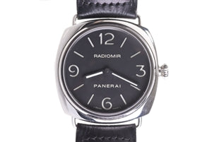 PANERAI RADIOMIR BLACK LEATHER STRAP MEN'S WATCH