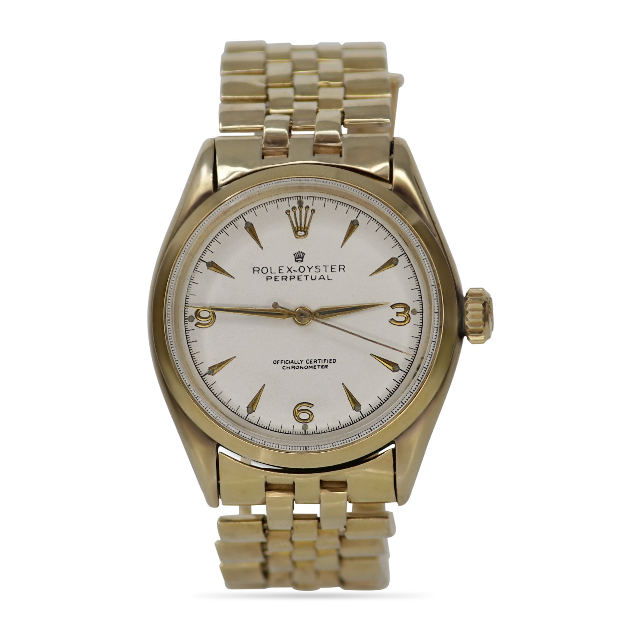 Rolex -Perpetual Vintage Watch Jubilee Band 36mm 18k Yellow Gold
