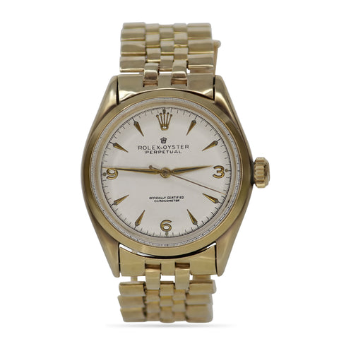 Rolex Oyster Perpetual Vintage 35mm 18k Yellow Gold Watch
