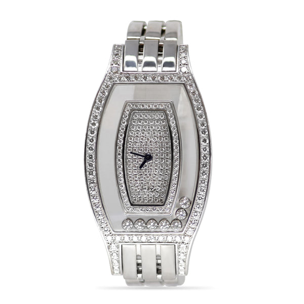 Chopard Happy Diamonds Watch with Diamond Case and 18k White Gold Bracelet