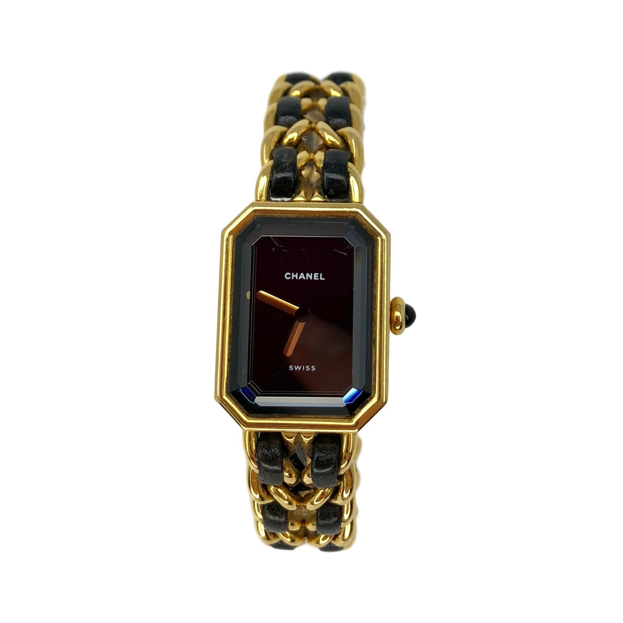 CHANEL Premiere Black Gold-plated Stainless Steel Women's Watch