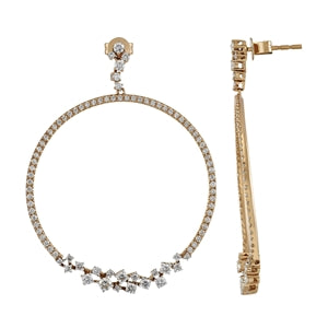 14K GOLD & DIAMONDS EARRINGS