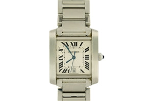STAINLESS STEEL CARTIER TANK FRANCAISE WATCH