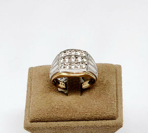 The Champion Band - 10k White and Yellow Gold Men's Diamond Ring